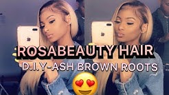 DYING ASH/BROWN ROOTS ON 613 HAIR| FT.ROSABEAUTY HAIR