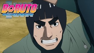 Guy vs Metal and Iwabee | Boruto: Naruto Next Generations