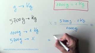 Cómo pasar de g a Kg - Convertir gramos en Kilogramos