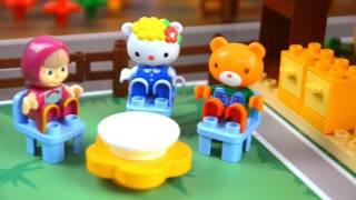 Masha e Orso  episodi in italiano con costruzioni PlayBig - cosa combineranno oggi i nostri amici?