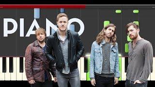 Imagine Dragons Levitate Passengers piano midi tutorial sheet partitura cover app karaoke