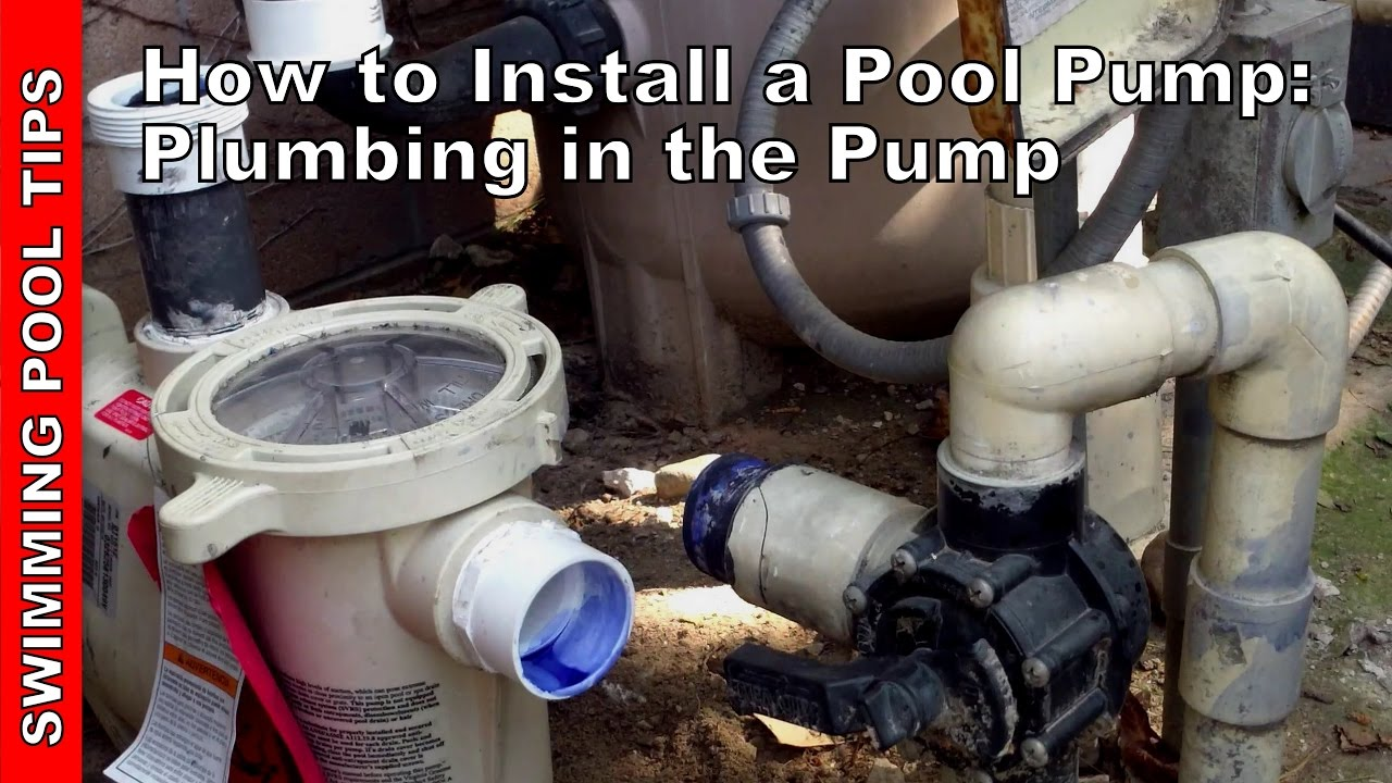 how to install a pool pump plumbing the pump part 2 of 2 [ 1280 x 720 Pixel ]
