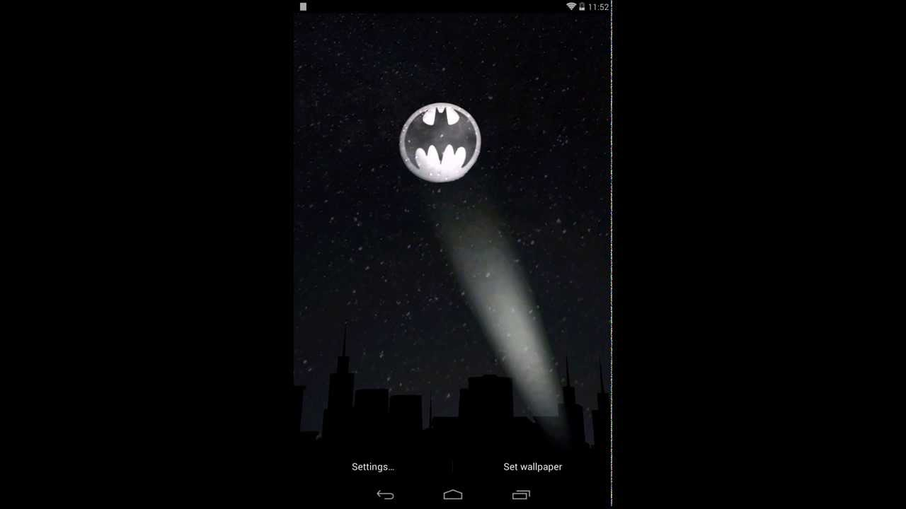 Bat Signal Android 3D Live Wallpaper