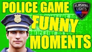 ROOKIE COP FUNNY MOMENTS! - Flashing Lights Multiplayer Gameplay - Police/Emergency Services Sim