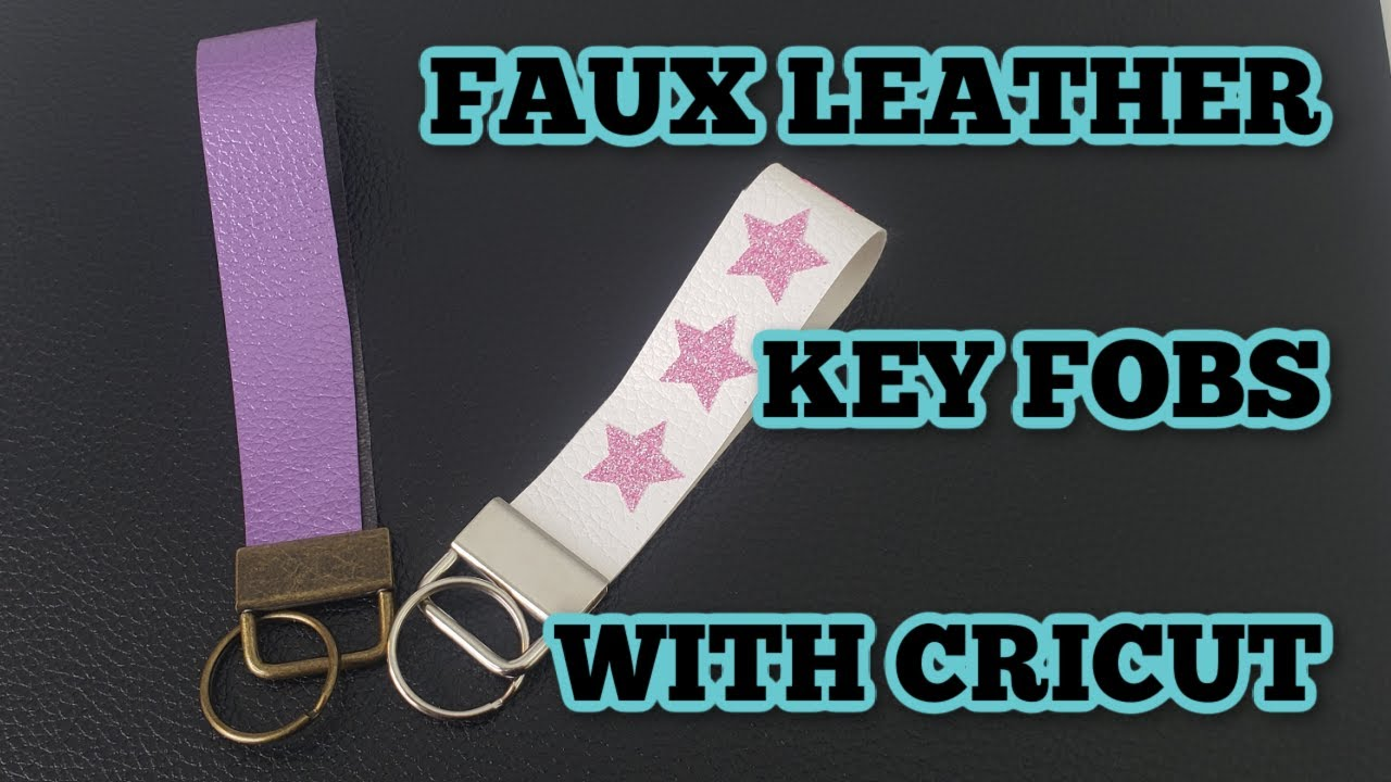 Faux Leather Wristlet Keychain