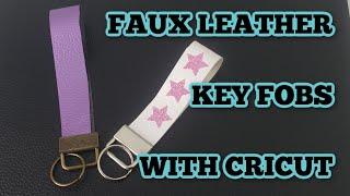 Key Fob Perfect for Keys /& Keychains Little Man Vegan Faux Leather Wristlet