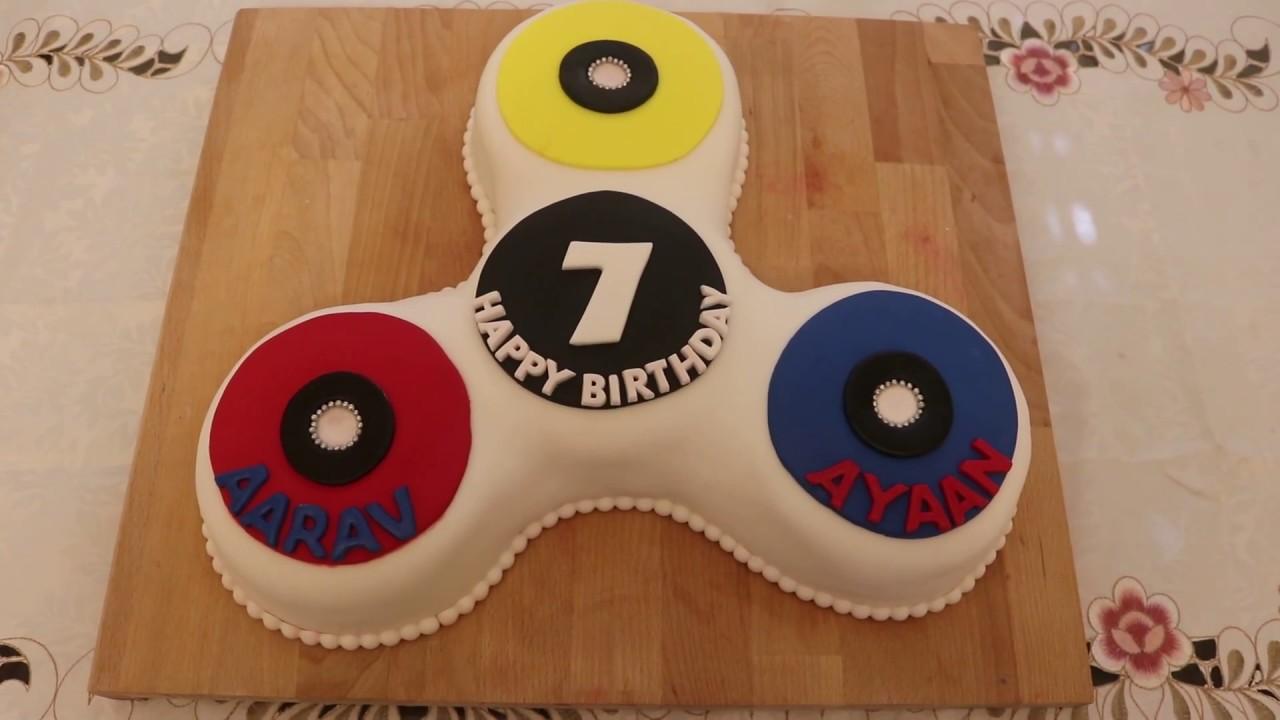 Fidget Spinner Cake - YouTube