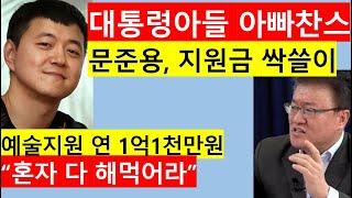 [고영신TV]문준용 자화자찬, 문화예술위 지원금 690…