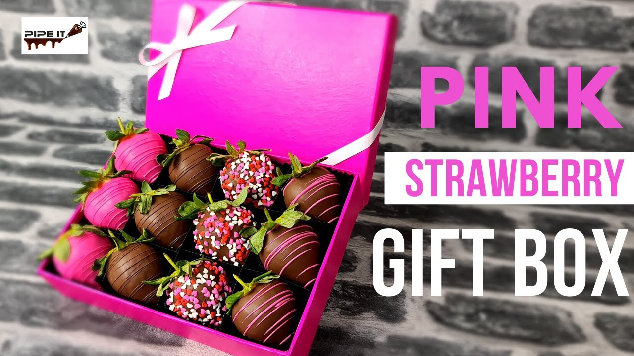 Diy Valentines Day Strawberry Bouquet In A Gift Box Youtube