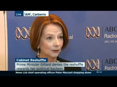 Gillard defends Cabinet reshuffle
