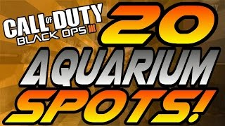 ALL 20 Aquarium Spots! - BO3 (Hiding Spots, Lines of Sight, Jumps) - Black Ops 3
