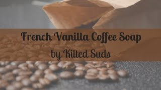 French Vanilla Coffee Soap | Layered Soap with Coffee | Cold Process Soap by Kilted Suds