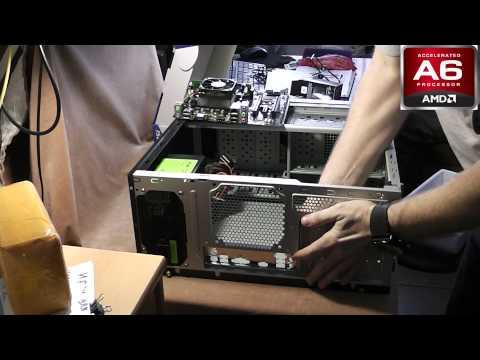 видео: Сборка компьютера на amd fm2 a6 6400k +radeon r7 250