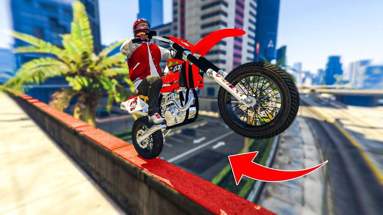 Insane Real Life Bike Stunts Gta 5 Stunts Fails Youtube
