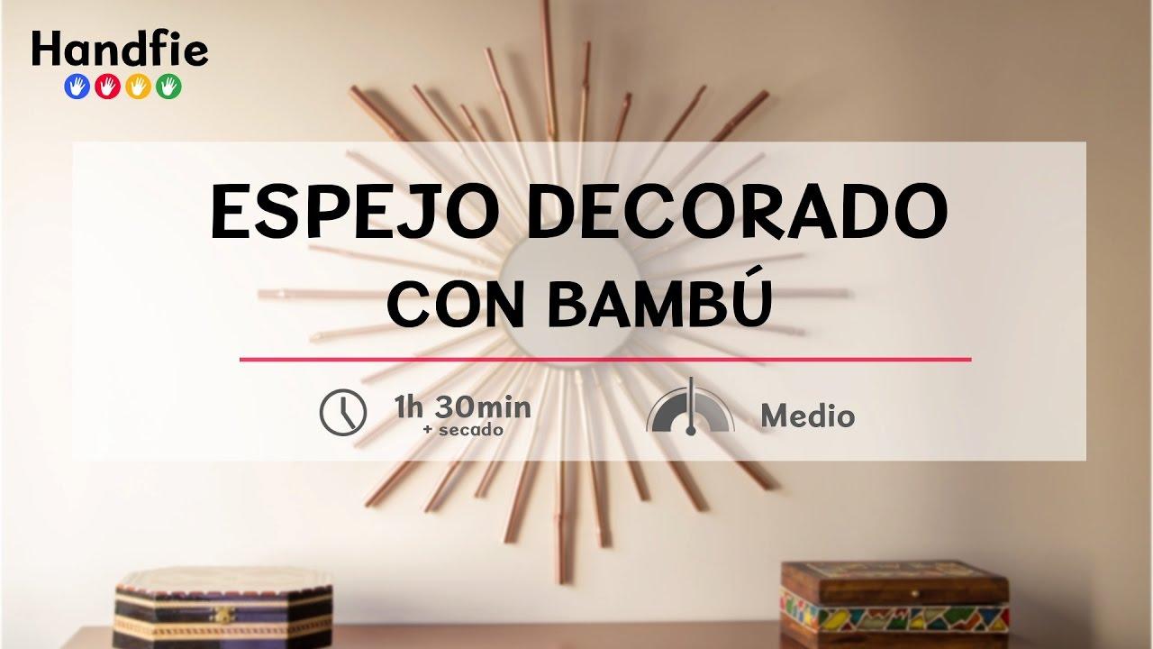C mo hacer un espejo sol con bamb handfie diy youtube for Como hacer un espejo