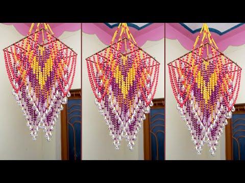 WOW !! Best Pearl Wall Hanging || DIY Pearl Chandelier || Jhumar Making