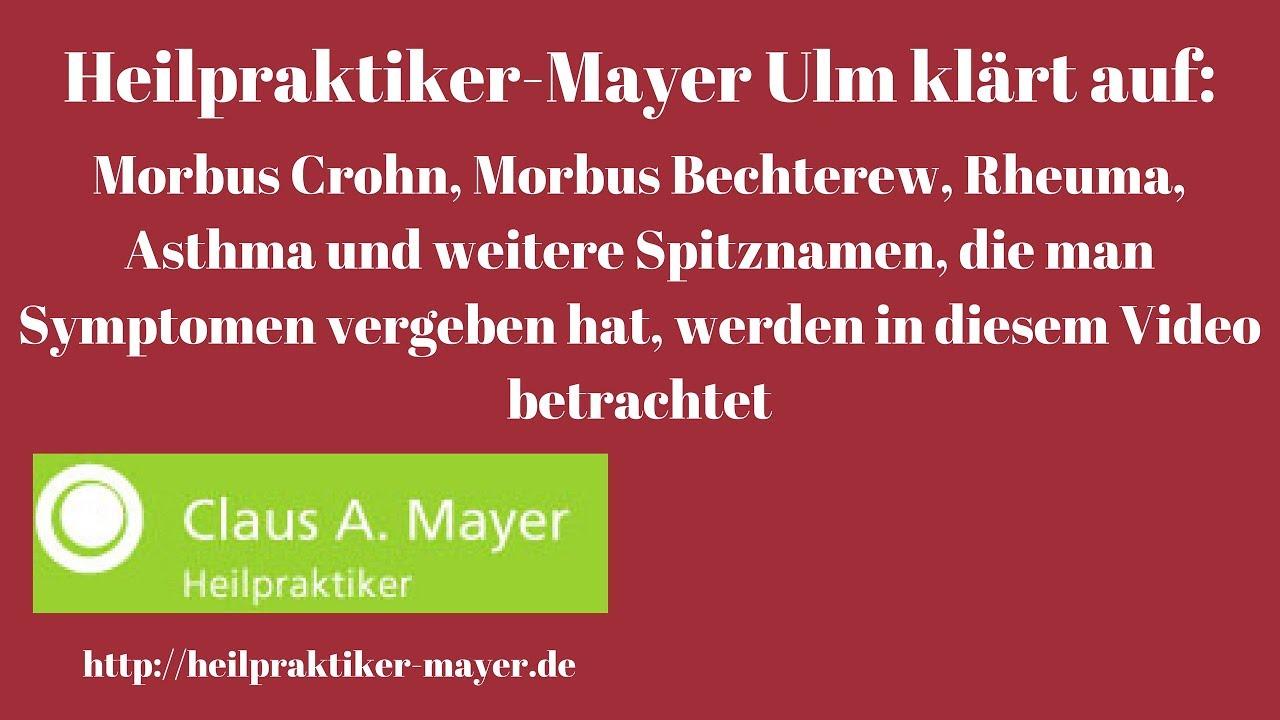 Morbusse, Asthma, Immunschwäche Und Weitere Spitznamen  Heilpraktiker Mayer  Aus Ulm