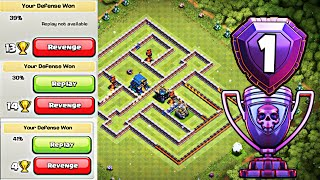 Th12 Trophy/Troll Base 2019 with Replays | CoC Best Th12 Defensive Legend Base 2019 - Clash of Clans