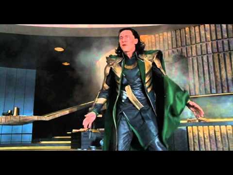 The Avengers (2012) 720p HD HULK vs. LOKI funny