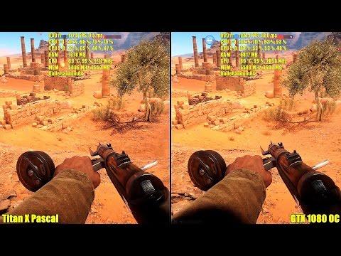 Battlefield 1 Beta GTX 1080 Overclocked Vs Titan X Pascal Stock Frame Rate Comparison