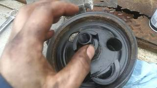 How to easily remove a pulley from a power steering pump!