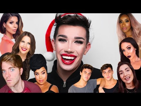 FULL FACE OF YOUTUBER CHRISTMAS PRESENTS