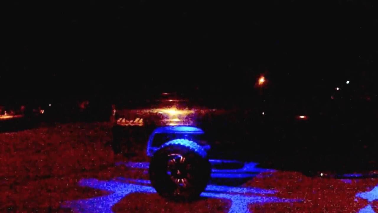 Dodge Ram Lifted >> Bluetooth Rock Lights On Chevy Silverado - YouTube