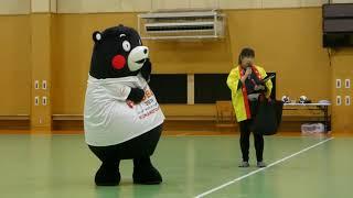 くまモン、大学ハンドボール試合会場に登場だモン@東京女子体育大学2018/10/06