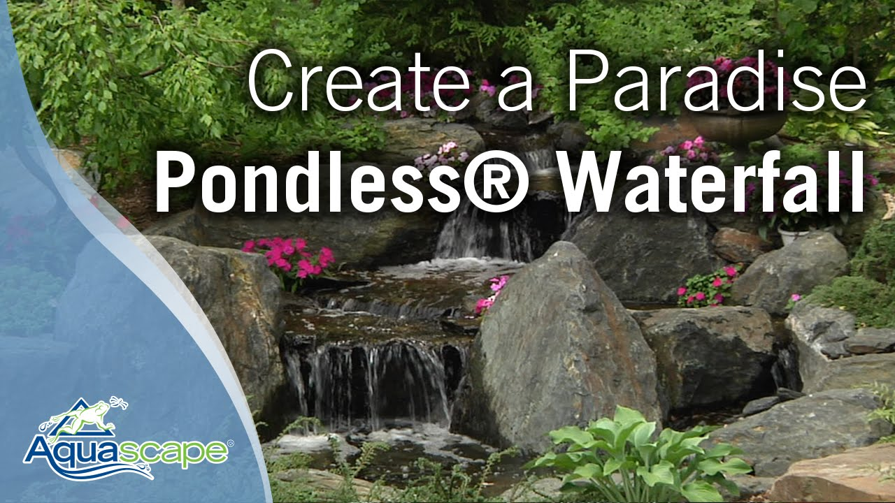 Create A Paradise Aquascape Pondless 174 Waterfall Youtube