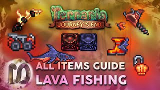 ALL LAVA FISHING ITEMS in Terraria 1.4 Journey's End, Full Guide, New Lava fishing Terraria