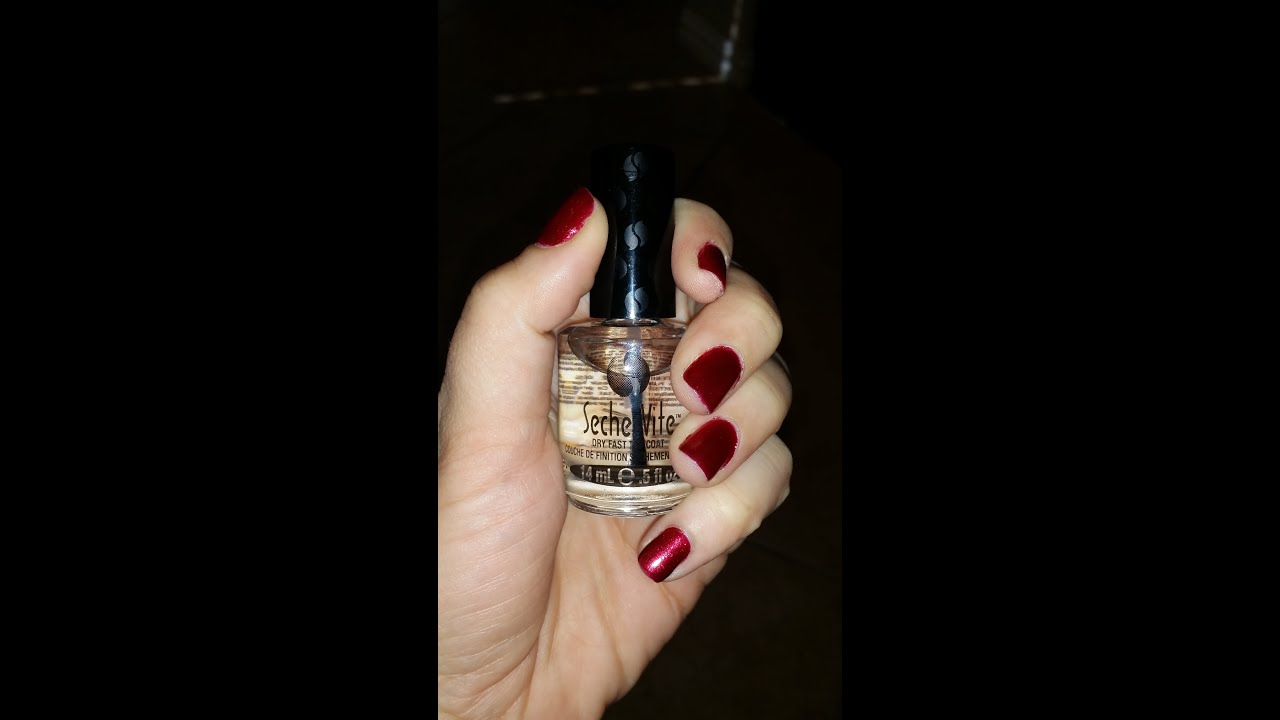 Seche Vite Dry Fast Top Coat REVIEW - YouTube