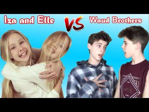 Iza And Elle Vs Jason And Joe Waud Musically | Iza and Elle Vs Waud Brothers Battle Musers