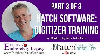 Hatch Digitizer Embroidery Software Tutorial: Beginner's Guide 3