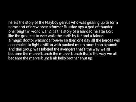 The marvel bunch lyrics the avengers