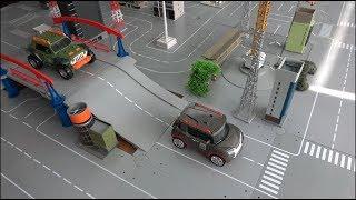 또봇 도시 속 자동차 로봇 장난감 Tobot Car Robot Toys In The City