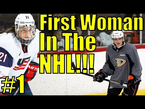 The First Woman In The NHL!!! NHL 17 Be A Pro Episode 1