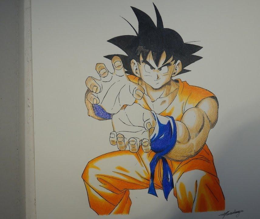 Dessin De Goku Drawing Goku Youtube