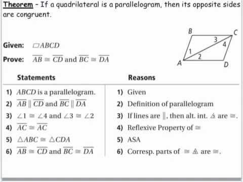 Geometry - 6.2 Properties of Parallelograms