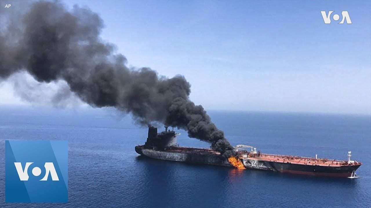 Tankers attacked in Gulf of Oman, US Navy says
