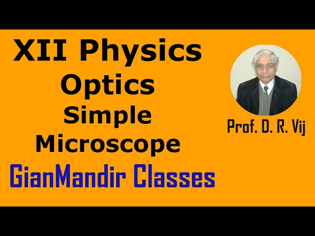 XII Physics | Optics | Simple Microscope by Poonam Ma'am