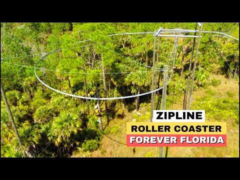 Roller Coaster Zip Line Seen On Florida TV HD Forever Florida