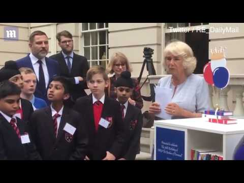 Duchess of Cornwall delivers speech at Clarence House