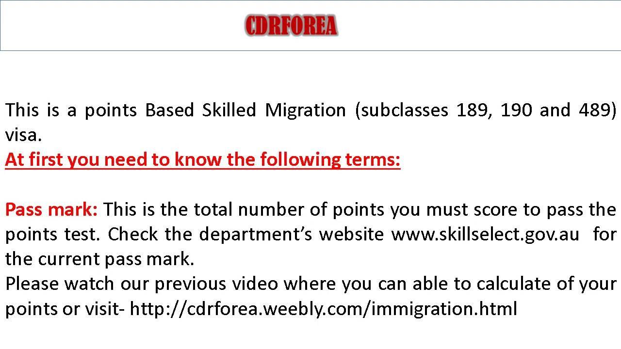 Points calculator for australian migration: general skilled.