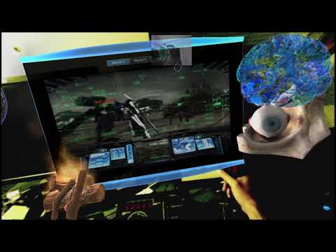 Meta 2 Metaglasses : MR Playing Steel Battalion on a holographic screen