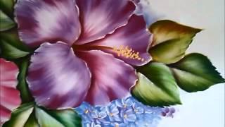 Pintando tulipas e hortências