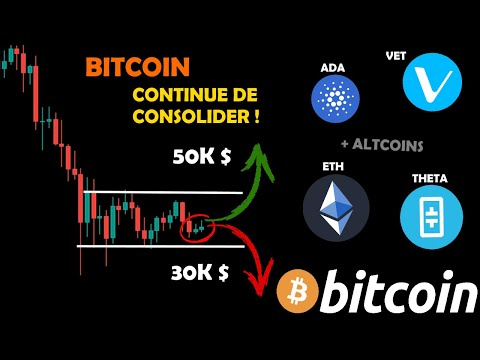 BITCOIN 😴 CONSOLIDE TOUJOURS / + ALTCOINS 🤩 : ETH / THETA / VET / ADA analyse crypto monnaie fr