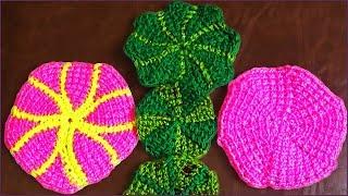 Вязание круга крючком. Вариант 2. Тунисское вязание. Круг крючком. Часть 3. (crochet circle. P. 3)
