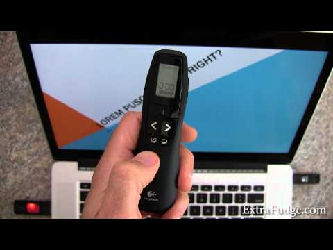 Logitech Presenter R800 And R400 Demo on Mac OS X