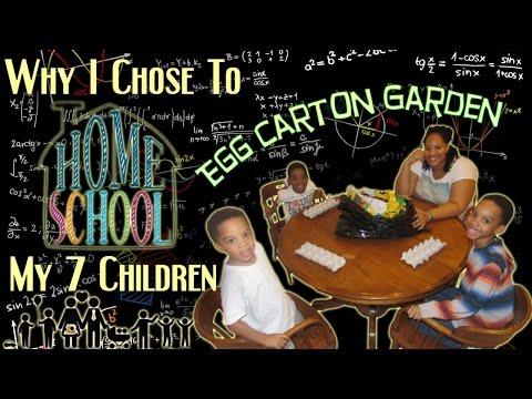 Why I Chose To Homeschool My 7 Children | Egg Carton Garden Project