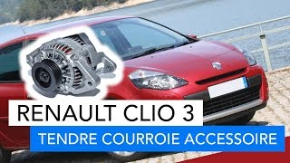 Renault clio 3 - Comment tendre sa courroie d'accessoire (alternateur)